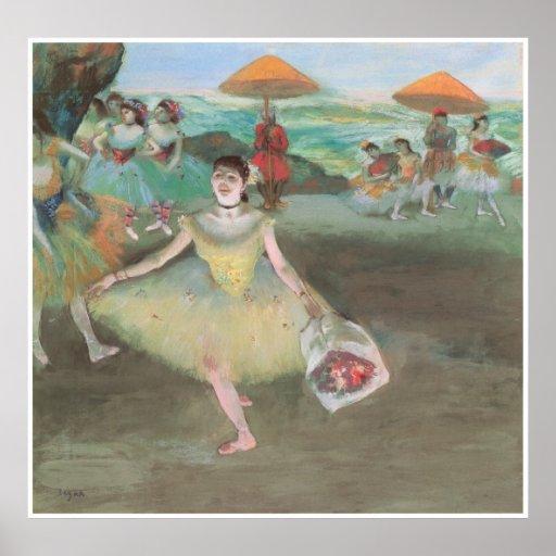 Bailarín con un ramo, inclinación, 1877 - Edgar De Poster