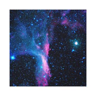 Bailarín cósmico de la galaxia en espacio impresión de lienzo