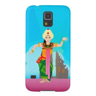 bailarín de Bali de la mujer Carcasas De Galaxy S5