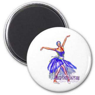 Bailarín de ballet 7 - bailarina incondicional de  imán redondo 5 cm