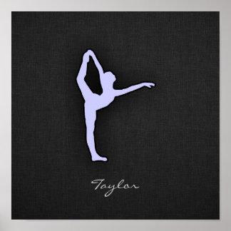 Bailarín de ballet azul de la lavanda impresiones