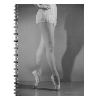 Bailarín de ballet libros de apuntes