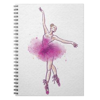 bailarín de ballet de la mujer libro de apuntes con espiral