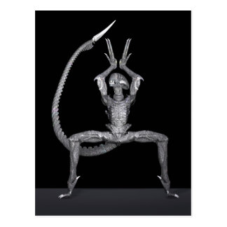 Bailarín de ballet del espacio exterior postal