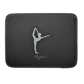 Bailarín de ballet del gris de ceniza fundas para macbooks