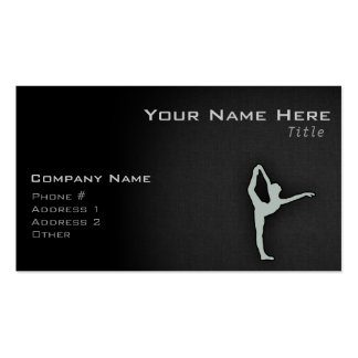 Bailarín de ballet del gris de ceniza tarjetas de visita