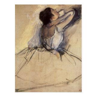 Bailarín de ballet del impresionismo del vintage postal