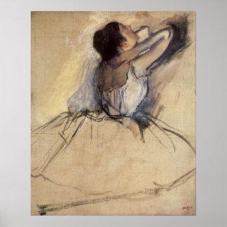 Bailarín de ballet del impresionismo del vintage póster