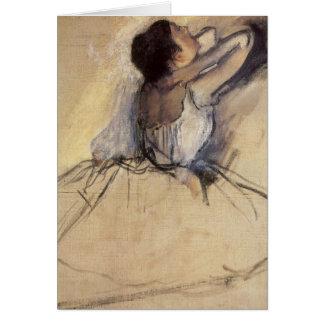 Bailarín de ballet del impresionismo del vintage tarjeta de felicitación