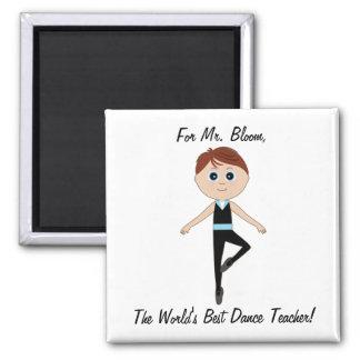 Bailarín de ballet del muchacho: Gracias bailar al Imán Cuadrado