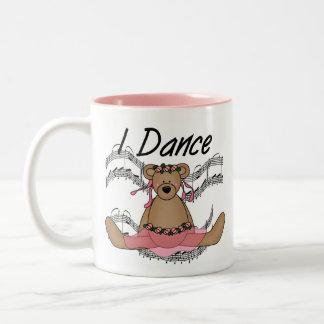 Bailarín de ballet del oso taza de dos tonos