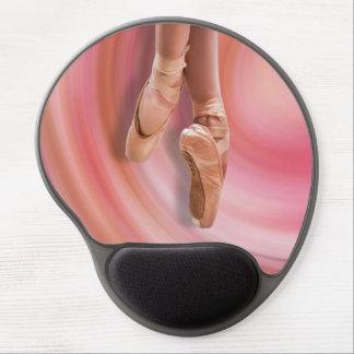 Bailarín de ballet en rosa alfombrillas de ratón con gel