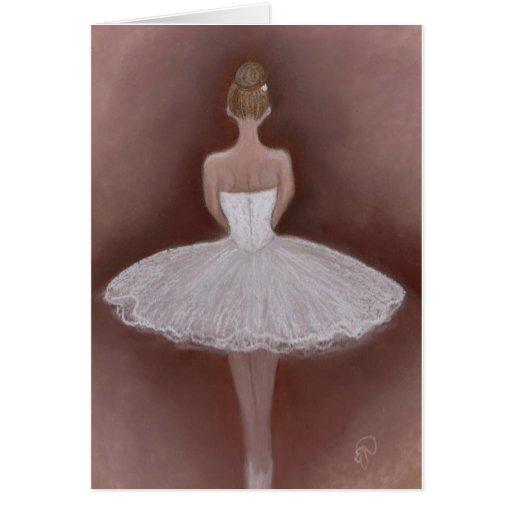 Bailarín de ballet en tutú felicitación