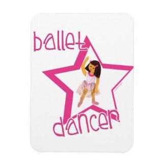 Bailarín de ballet imán rectangular