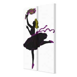 Bailarín de ballet impresion en lona