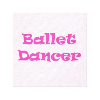 Bailarín de ballet impresiones en lona estiradas
