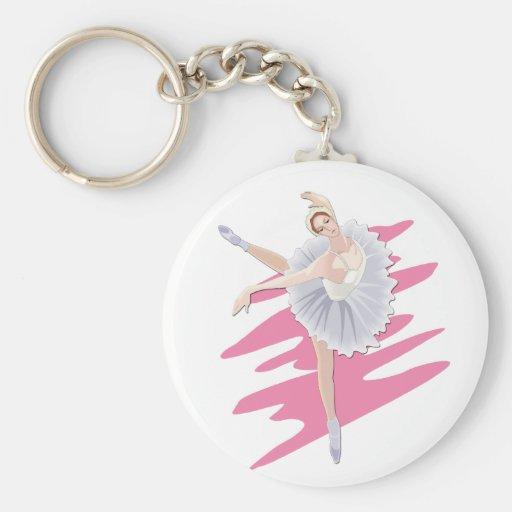Bailarín de ballet llavero redondo tipo pin