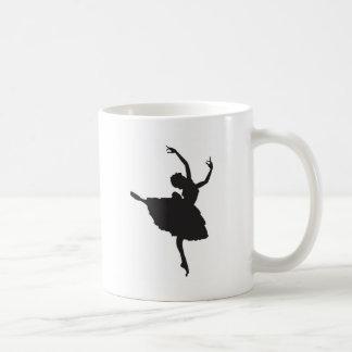 Bailarín de ballet negro de la silueta taza clásica