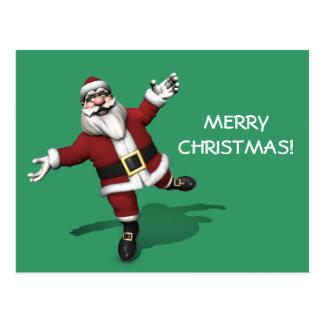 Bailarín de ballet Papá Noel Postal