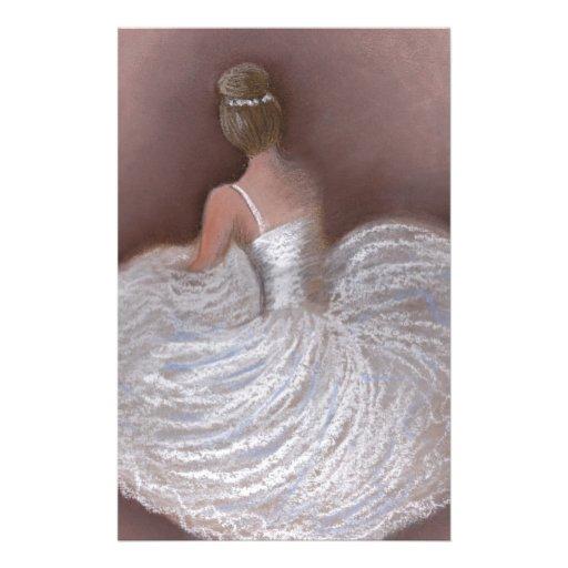 bailarín de ballet  papeleria de diseño