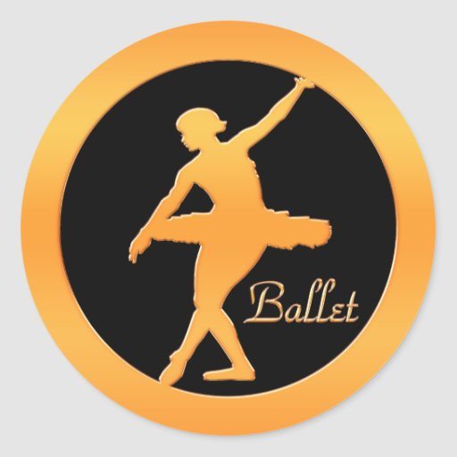 Bailarín de ballet pegatina redonda
