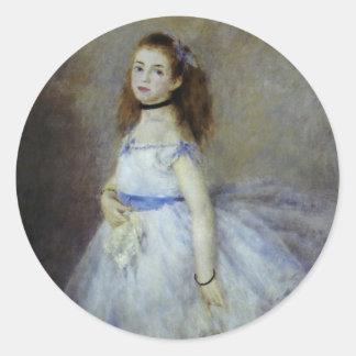Bailarín de ballet por Renoir arte del Pegatinas Redondas