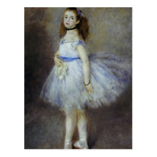Bailarín de ballet por Renoir, arte del Postal