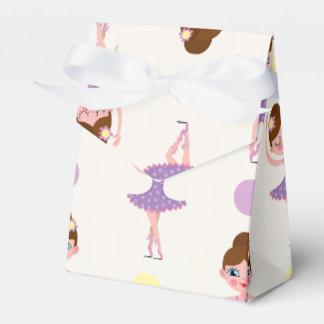 Bailarín de ballet púrpura y amarillo lindo, caja para regalo de boda