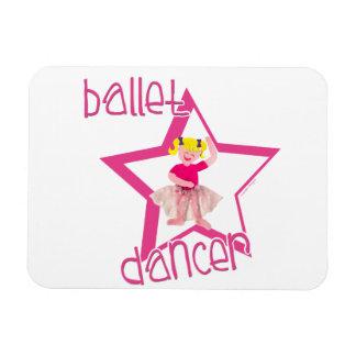 Bailarín de ballet rectangle magnet