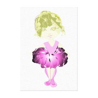 bailarín de ballet rosado del Srta.-ajuste Digital Impresión En Lona Estirada