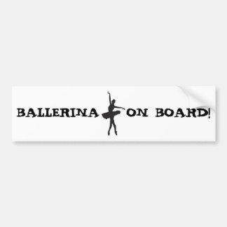 BAILARÍN de BALLET (silueta) de la bailarina ~.jpg Pegatina Para Auto