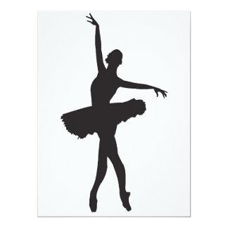 "BAILARÍN de BALLET (silueta) de la bailarina ~.png Invitación 6.5"" X 8.75"""