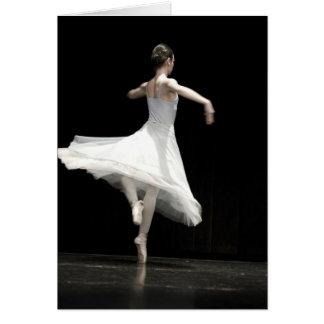Bailarín de ballet tarjeta de felicitación