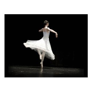 Bailarín de ballet tarjeta postal