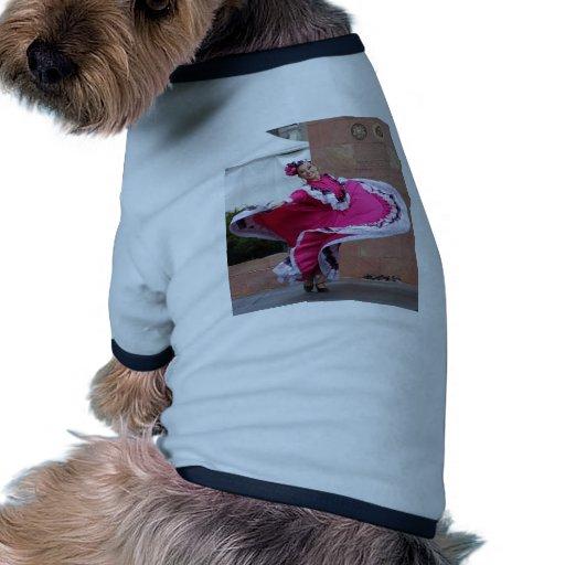 Bailarín de Cinco De Mayo Camiseta Con Mangas Para Perro