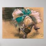 Bailarín de Edgar Degas que ata sus cintas del zap Impresiones
