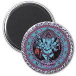Bailarín de Ganesh Imán Redondo 5 Cm