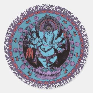 Bailarín de Ganesh Pegatina Redonda