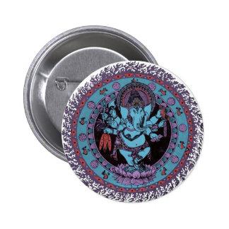 Bailarín de Ganesh Pin Redondo 5 Cm