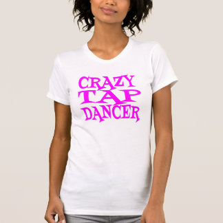 Bailarín de golpecito loco en rosa camisetas