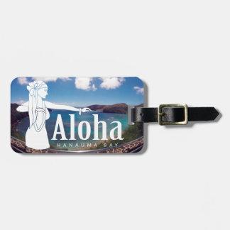 Bailarín de Hawaii Hula de la bahía de Hanauma de Etiquetas Para Equipaje