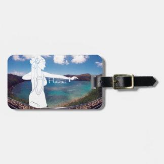 Bailarín de Hawaii Hula de la bahía de Hanauma de Etiqueta De Equipaje