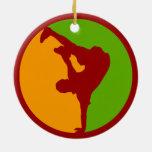 Bailarín de Hip Hop Ornamentos Para Reyes Magos