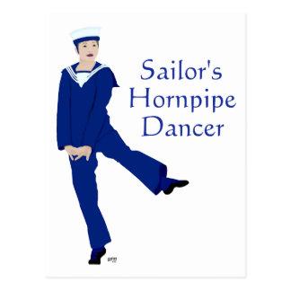Bailarín de Hornpipe de los marineros Tarjetas Postales