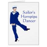 Bailarín de Hornpipe de los marineros Tarjeton