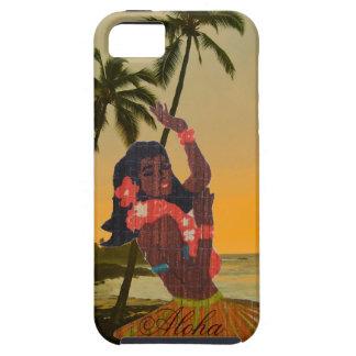 Bailarín de Hula en la playa hawaiana iPhone 5 Cárcasa