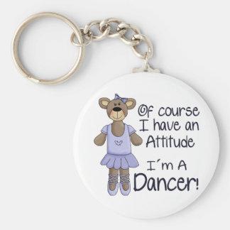 Bailarín de la actitud llavero personalizado