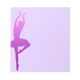 Bailarín de la bailarina bloc de papel