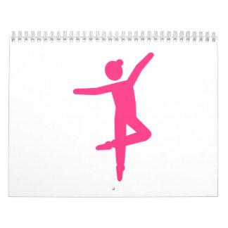 Bailarín de la bailarina del ballet calendario