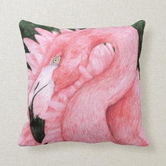 Bailarín de la fan - flamenco rosado almohadas